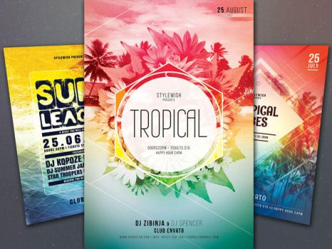 Tropical Flyer Bundle by styleWish