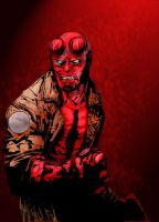 hellboy colored by Sigint