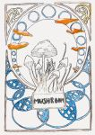 Art Nouveau Mushrooms by Goats-On-A-Boat