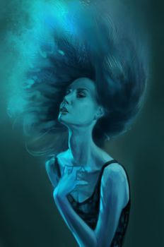 color blue study by lucakong