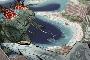 Godzilla 2014 Commission by JakeEkiss