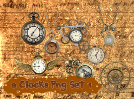 8 Clocks Png Set_1 by JEricaM