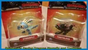 Spinmaster Racing Dragons Stormfly and Toothless by Vesperwolfy87