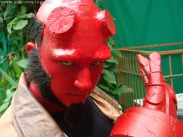 Hellboy makeup by Yukilefay