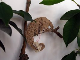 Pangolin Fridge Magnet - Sleep tight little one by demiveemon