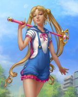 Sailor Moon redesign by DmitryGrebenkov