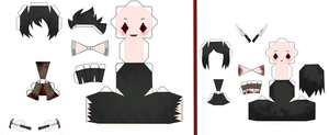 .Flow papercraft  :Smile-Sister: by Yume-ALL-Papercraft