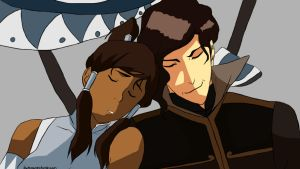Korra and Tahno by Lionla