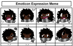Shibi Emoticon Expression Meme by shibitheshadowhound