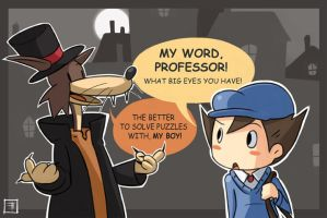 Layton: The Curious Werewolf by Tanooku