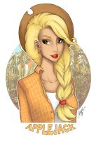 My Little Pony Character Design: Applejack Colo by Ayaka-Itoe
