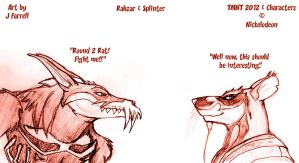 Rahzar and Splinter by darkmane