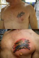 cover-up tattoo by HowComeHesDead