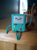 Polymer clay Beemo by TeaganTheVegan