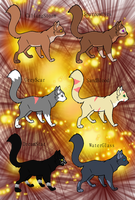 Warrior cat adopts (READ DESCRIPTION) by americacat1