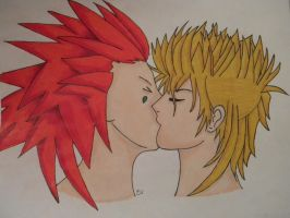Axel and Demyx by B10ndevamp
