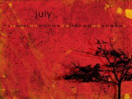 Grunge Tree with cal - July by aaron4evr