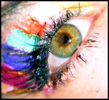 Rainbow and Lashes by CGrocePhotography