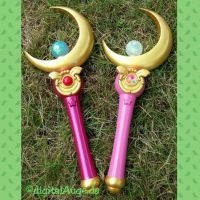 Sailor Moon - Moon Stick Prop V 2.0 finish by digitalAuge