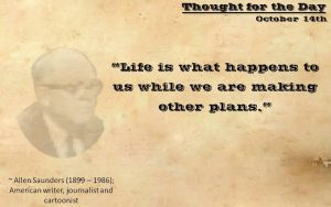 Thought for the Day - October 14th by ebturner