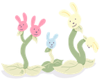 Bunny Plants by inthedesertwithgirls