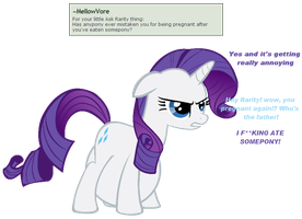 Ask Rarity question #7 by RarityVore