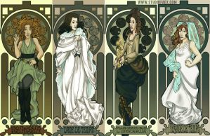 Mucha-Dr. Who by penguinfaery