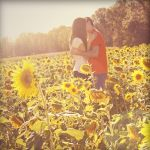 Sunflower Kiss by RebekaPhotography
