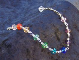 Rainbow Gradient Bracelet by mizufusion