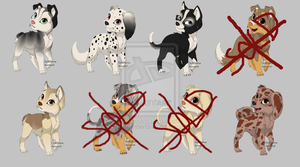 More Puppies OuO 5POINTS + Freebies + OneFree(5/9) by EntitySomberGray