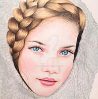 Girl With Knitted Hood by TheArtofAnnika