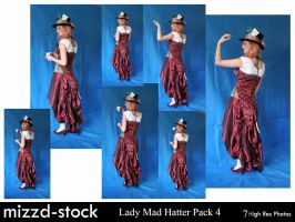 Lady Mad Hatter Pack 4 by mizzd-stock