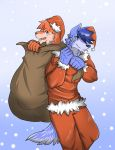 Alpha and Ralph in Christmas by AlphaMoonlight