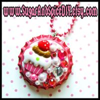 Deco Cupcak Bottle Cap by SugarAndSpiceDIY