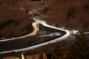 Moutain road at night. by Cpl-Highway