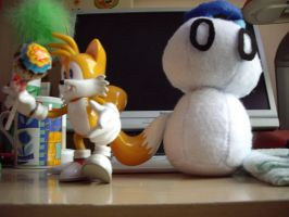 :Photo: Tails and the wip chao by sunowi0421
