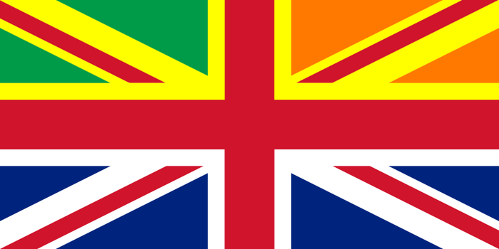 UK Flag with Wales and Ireland by Alternateflags