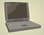 Old Apple laptop by mechafi