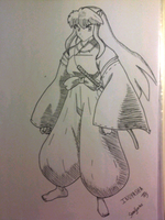 Inuyasha in pose XD by bokuberry