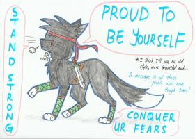 Proud to be yourself! by NightWolfStarYT