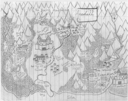 Map of Aradall by Dragonblade99