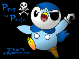 Piplup the Pirate by munjey86