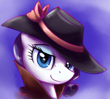Detective Rarity by otakuap