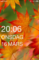 OS7 on iPhone Lockscreen Leaf by ProjektGoteborg