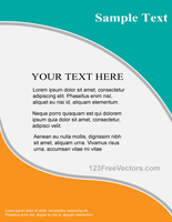 Vector Flyer Design Template by 123freevectors