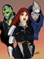 Mass Effect Fanart Colored by Dakkita