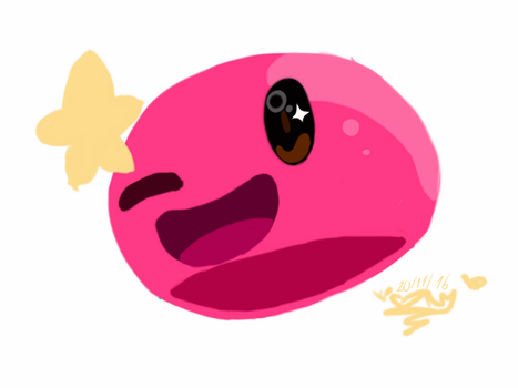 Pink slime by TheCatEvil