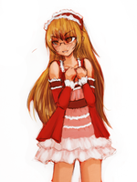 Keima crossdressing by Tindreia