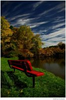 The Red Bench by hellfirediva