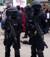 MCM Expo 2013 101 - Resident Evil Umbrella Troops by cosmicnut